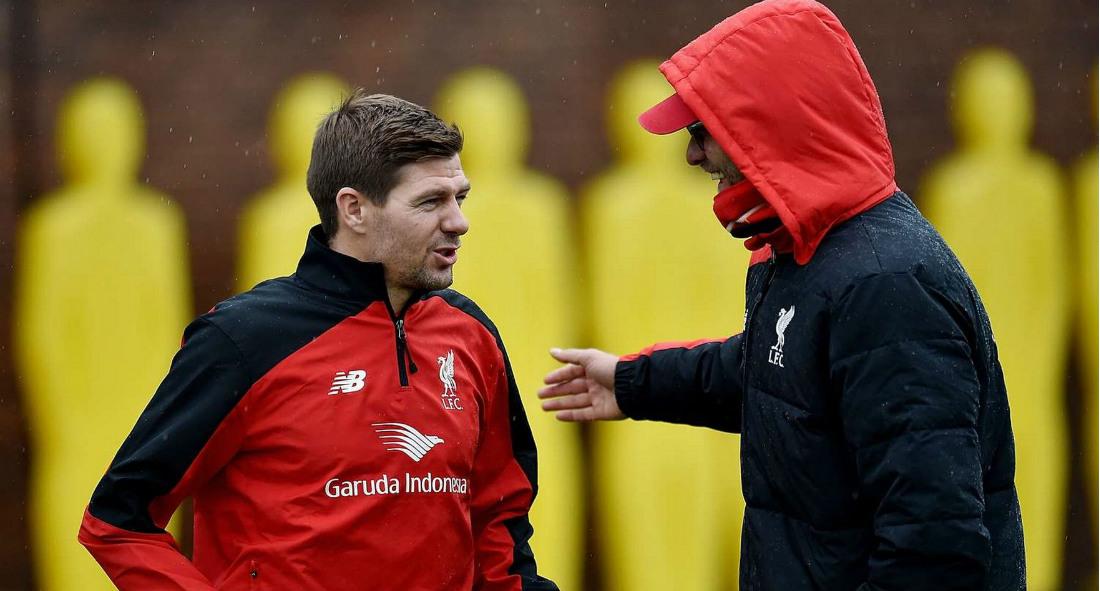 Steven Gerrard dan Jurgen Klopp